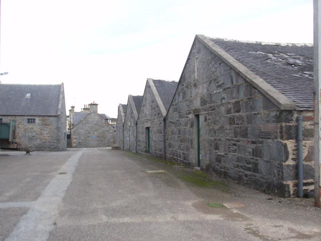 Warehouses at Glenglassaugh distillery