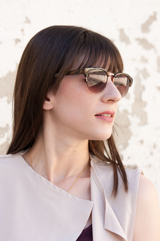 Loft Sunglasses, Hairstyle with Bangs
