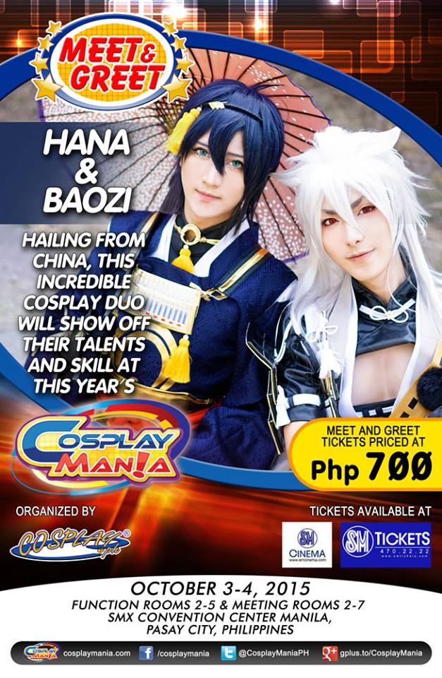 Cosplay Mania Special Guest Meet and Greets Announced! Hana and Baozi