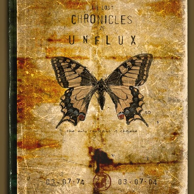 The Lost Chronicles of Unflux. Made this in tribute to my 30th birthday. (No, it's not real.) #tbt #unflux #book #journal #butterfly #chronicals #lost #digitalart