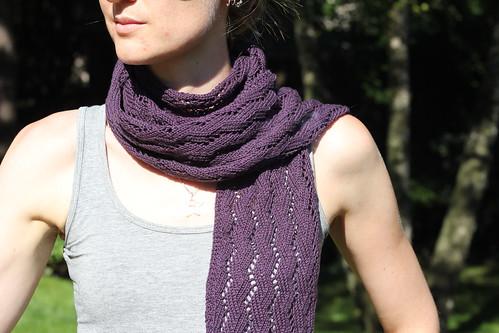 tricoter une echarpe d'ete