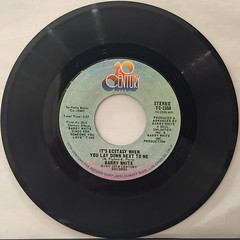 BARRY WHITE:IT'S ECSTASY WHEN YOU LAY DOWN NEST TO ME(RECORD SIDE-A)