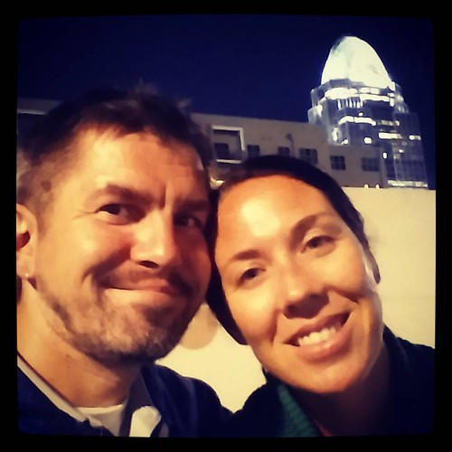 All smiles in downtown Cincinnati. :)