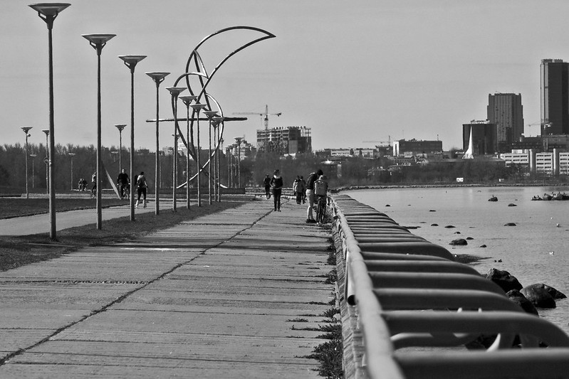 The Promenade in Black and White