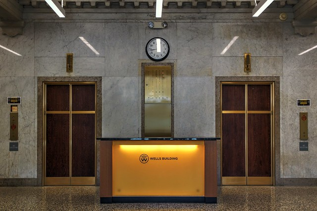 Inside the Wells Building - Lobby and Elevators