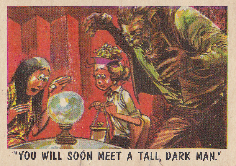 """You'll Die Laughing"" Topps trading cards 1959,  illustrated by Jack Davis (59)"