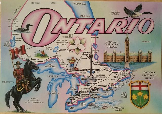 Ontario - map