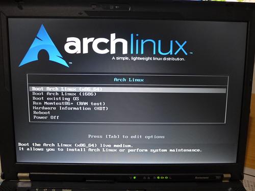 安裝 arch linux