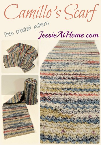 Camillo's Scarf ~ free crochet pattern by Jessie At Home