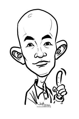 digital caricature live sketching for Standard Chartered Bank 2015 - 12