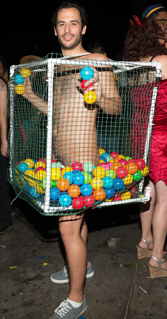 Naked Guy In Ball Pit Left Side Halloween West Hollywood -9067