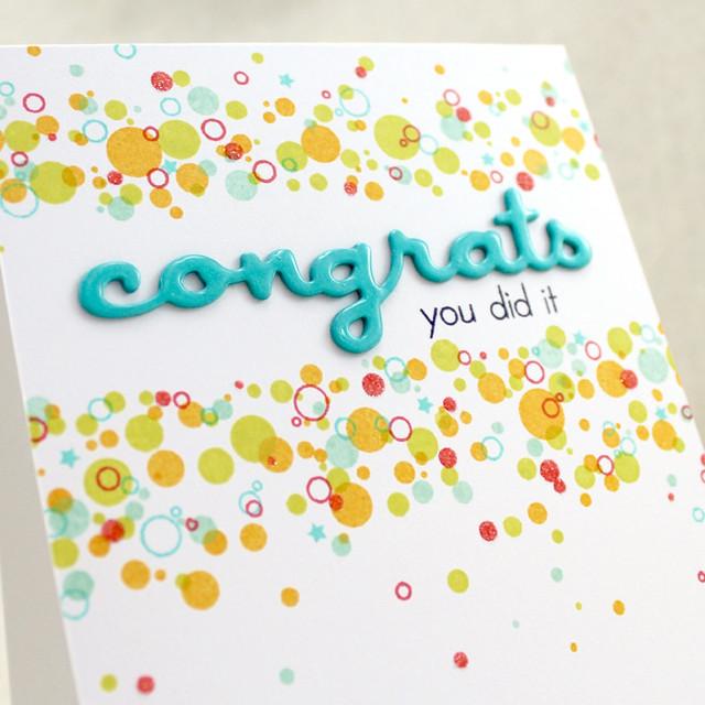 Confetti Congrats Close Up