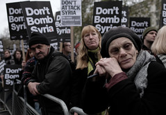 Anti-war protest in London.