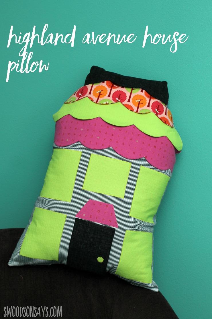 HIghland Avenue House Pillow
