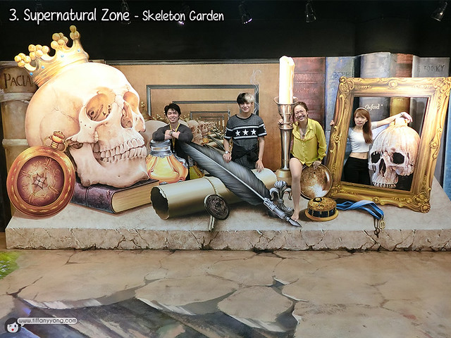 Trick Eye Museum Singapore Skeleton Garden