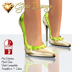 Mia Stilettos Gold Black @Designer Circle 118th