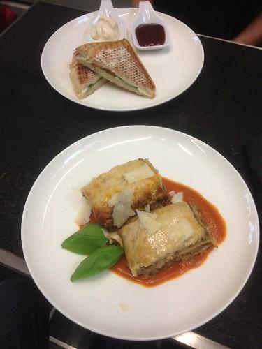 Lasagne and panini at Bar 13