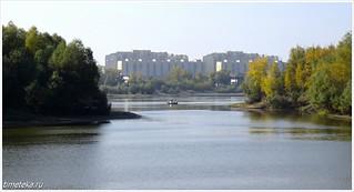 Омск. Вид на Иртыш со стороны парка