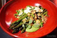 20161014-10-Asparagus, peas, sheep yoghurt and alm…