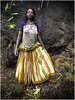 Konso Girl showing her traditional dress