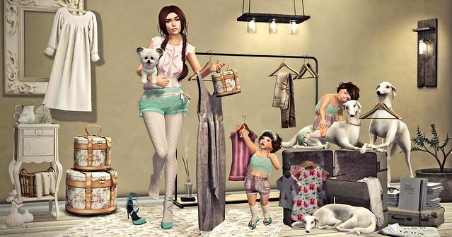 Amelie et les petites: Unpacking