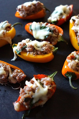sausage stuffed mini peppers