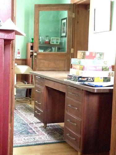 downstairs craft desk