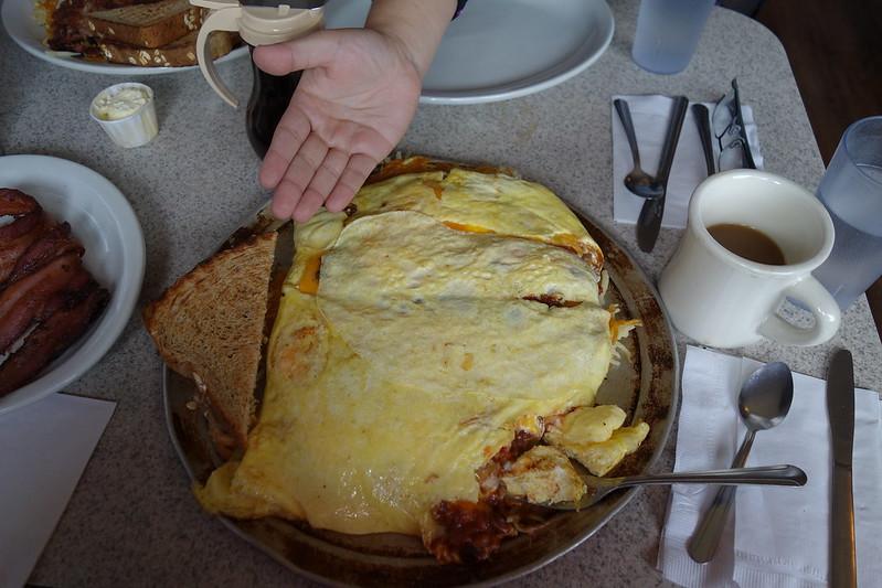 Twelve egg mega-omelette