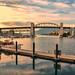 Burrard bridge, sunset by Djordje Cicovic