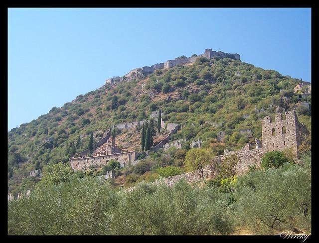 Grecia Nauplia Esparta Mistrás Olimpia - Sitio arqueológico de Mistrás