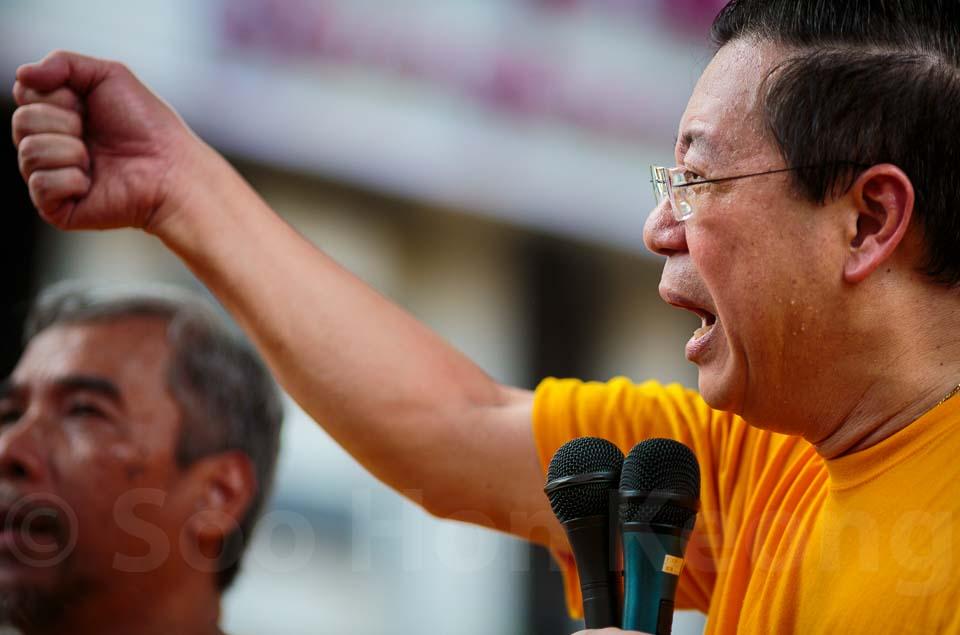 Lim Guan Eng - Bersih 4 Rally @ Kuala Lumpur, Malaysia
