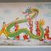 Dragon dance painting