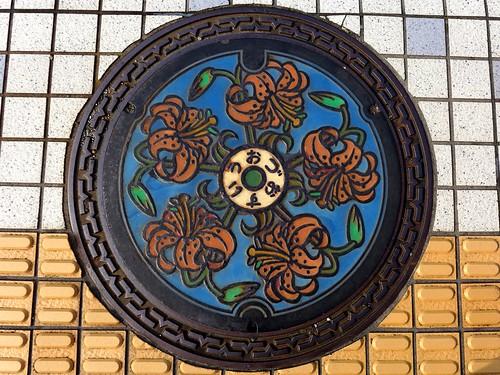 Uozu Toyama, manhole cover (富山県魚津市のマンホール)