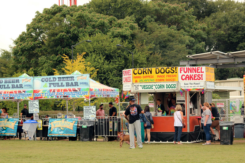 Beer and Food Stands at the Old Fourth Ward Fall Festival in Atlanta