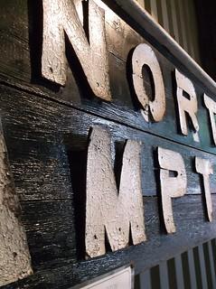 Fibre lettering