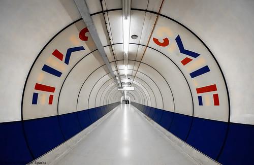 Smile - King's Cross Underground London by Simon & His Camera