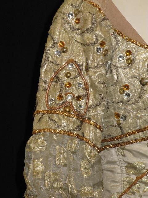 Detail of dress worn by Margot Fonteyn as Juliet in Act I scene 4 of Romeo and Juliet (1965) © ROH