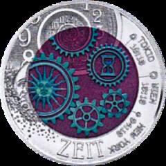 Austria - 25 Euro - Time - Niobium bimetallic coin reverse