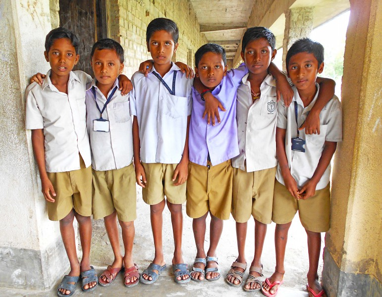School Childern - Sundarban, India