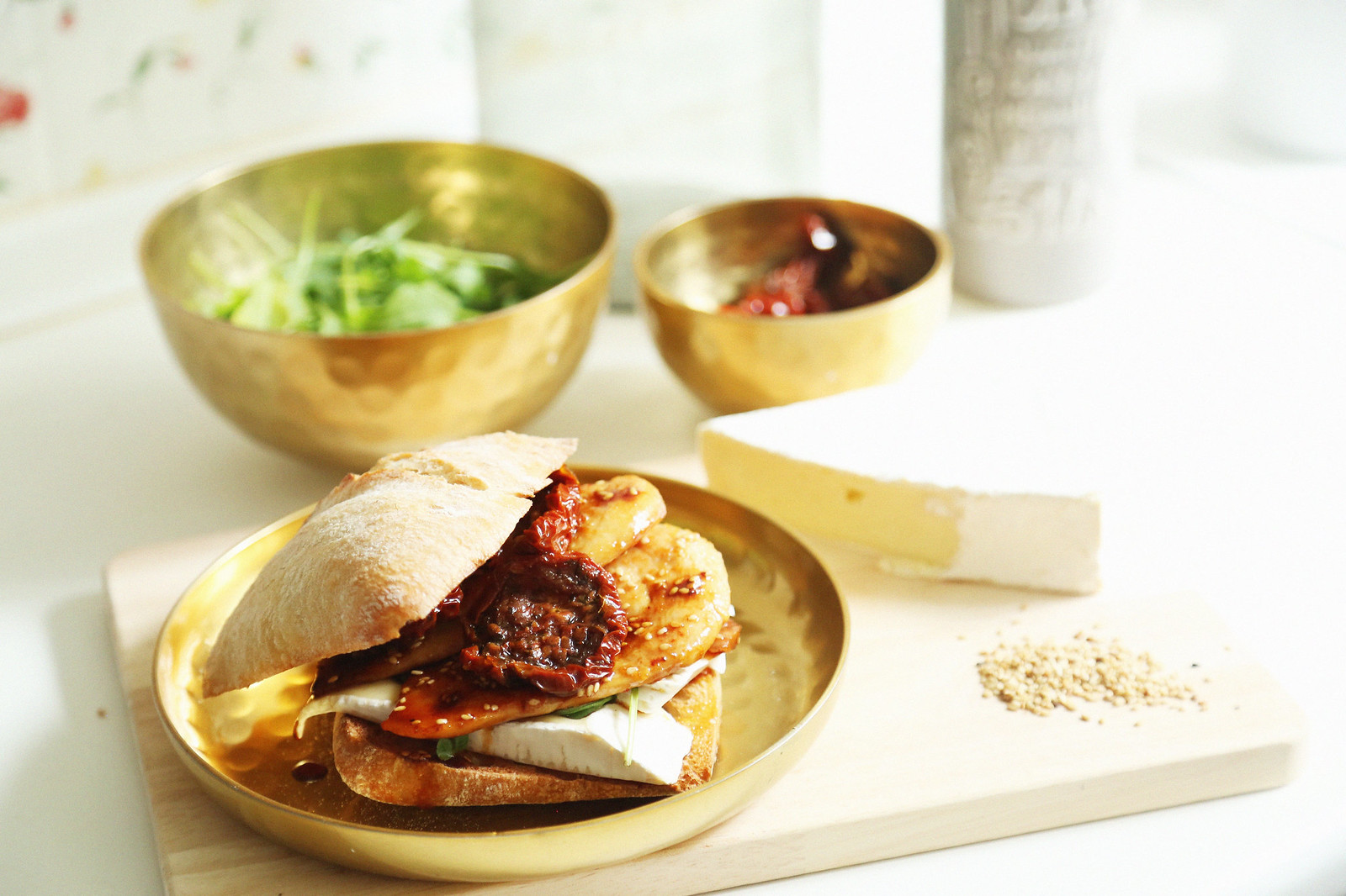 sandwich oriental de pollo