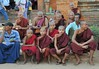 group shot party of young monks, Dhammayangyi by phginlon
