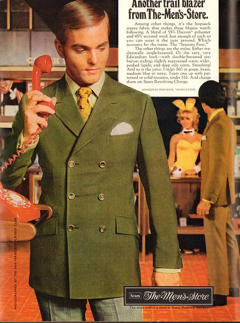 1969 Sears The Mens Store Advertisement Playboy April 1969