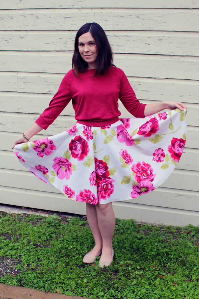 51546ae12e Floral Circle Skirt and Cropped Sweatshirt – Dixie DIY
