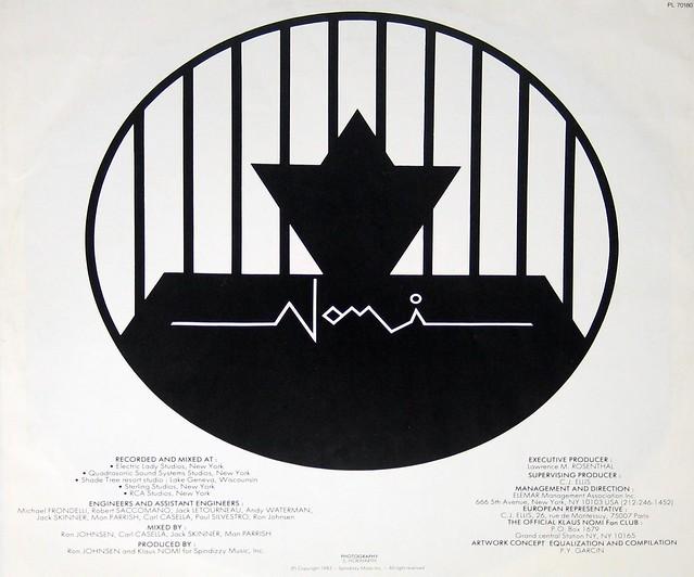 """Klaus Nomi - Encore 12"""" Vinyl LP"""