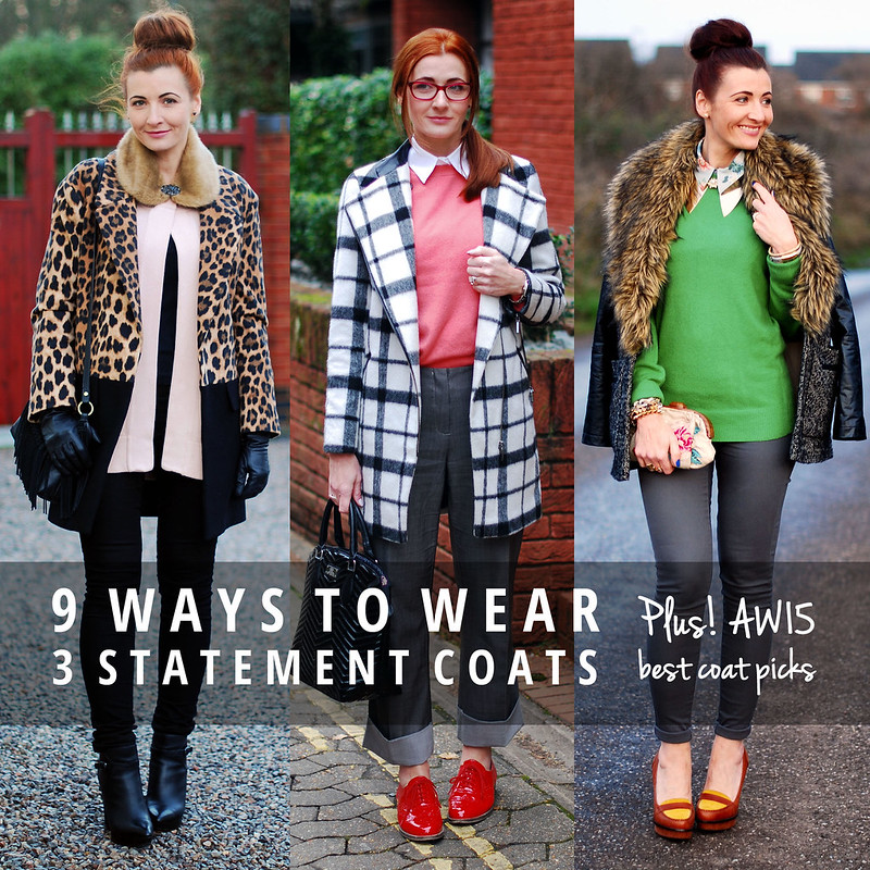 9 ways to wear 3 statement coats | Not Dressed As Lamb