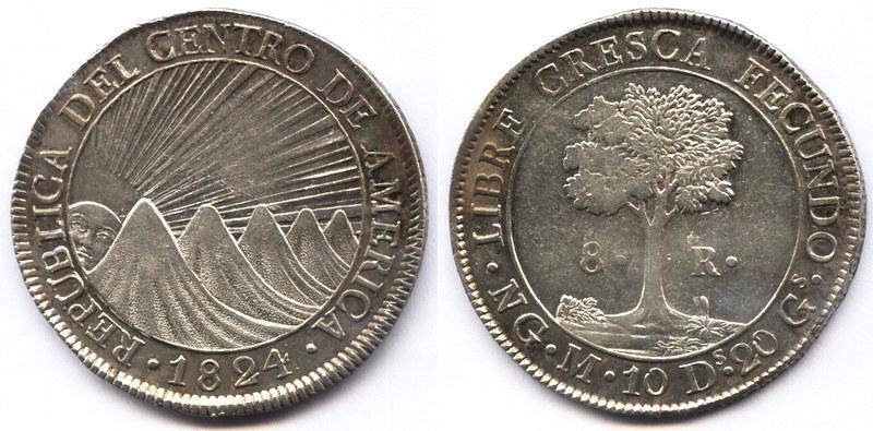 8 Reales. República de Centro de América 1824 22985775483_0a6254bf6e_c