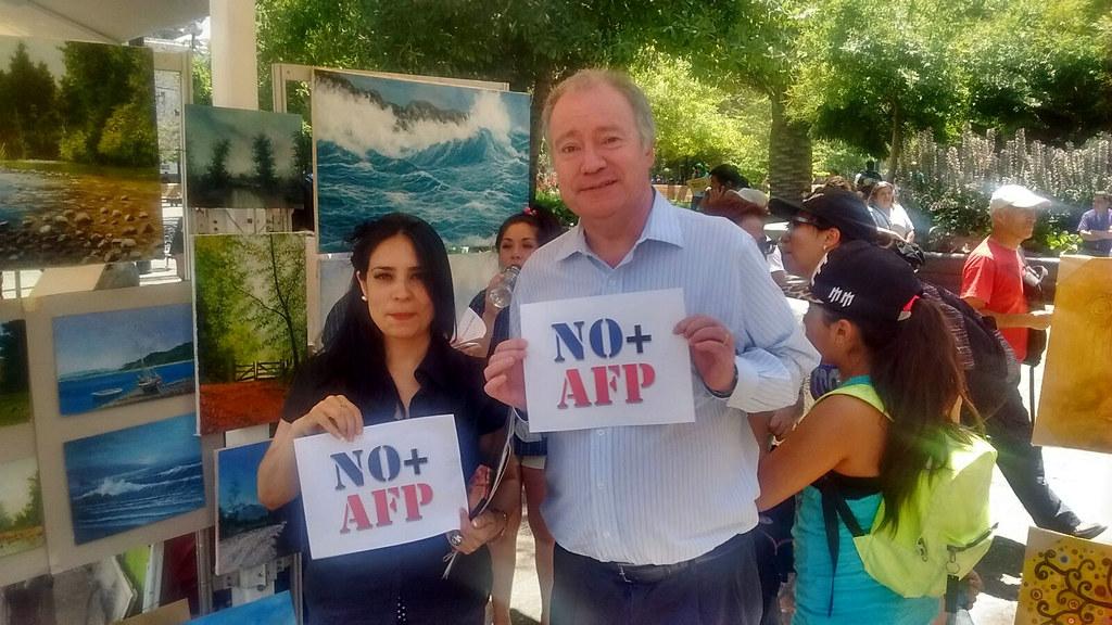 Gremios del FTH en Gran Marcha por NO + AFP. Todo Chile unido contra este sistema - 10 Diciembre 2015