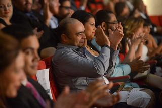 Omar de a Cruz entre el público. Premios La Silla.