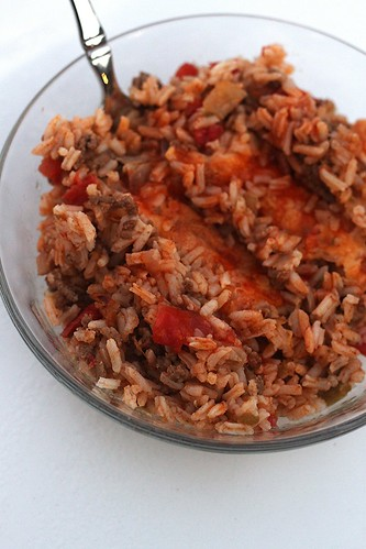 Beef Enchilada Rice Bake