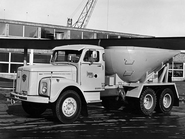 Седельный тягач Scania-Vabis LS5638 Mixer. 1963 год